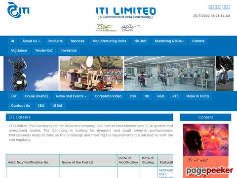 JOBS IN ITI LIMITED