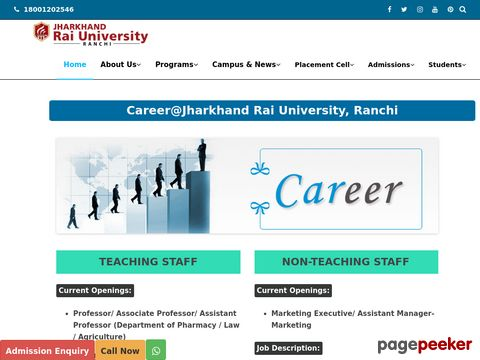 Jobs in Jharkhand Rai University