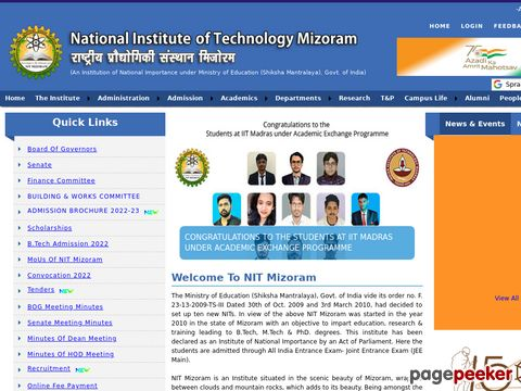NOTICE FOR WALK-IN WRITTEN TEST & INTERVIEW FOR M. TECH. ADMISSION IN NATIONAL INSTITUTE OF TECHNOLOGY, MIZORAM �� Details and Application Format? What is the last date? Selection Criteria? Application Fee? How to Apply?