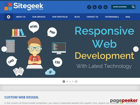 Sitegeek Infotech is a leading Web Development company in India, provides Website Design, PPC & SEO Services