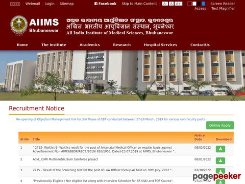Faculty and Non-Teaching Recruitment in AIIMS Bhubaneswar 2020 �� Details and Application Format? What is the last date? Selection Criteria? Application Fee? How to Apply? educratsweb.com