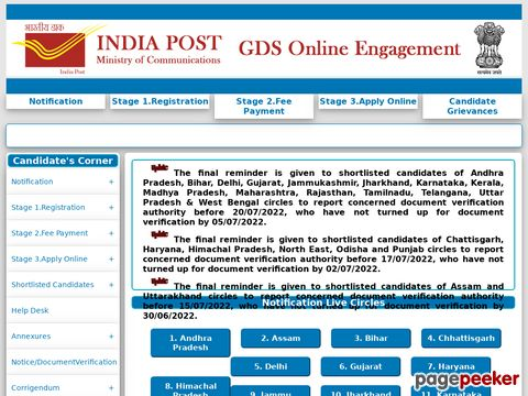 India Post has invited online applications for the recruitment of Gramin Dak Sevak