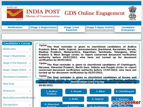 India Post GDS Recruitment 2020 for Haryana Madhya Pradesh Uttarakhand states