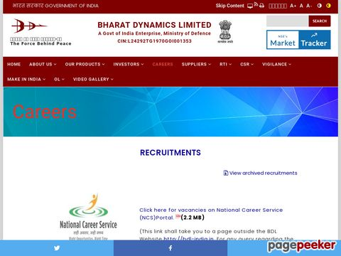 Executive Cadre Management Trainee Vacancy Recruitment in Bharat Dynamics Limited