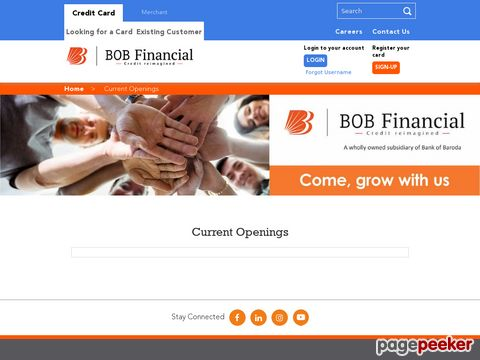 Job Vacancy in BOB Financial Solutions Limited (BFSL)