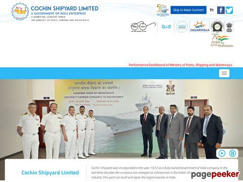 COCHIN SHIPYARD LIMITED INVITES APPUCATIONS FROM EXPERIENCED CHARTERED ACCOUNTANTS FOR THE POST OF DEPUTY GENERAL MANAGER (FINANCE)