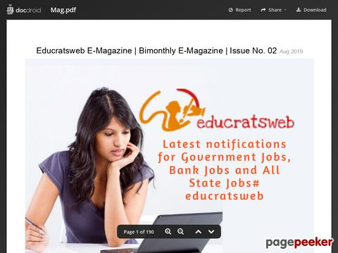 Educratsweb E-Magazine | Bimonthly E-Magazine | Issue No. 02 August 2019