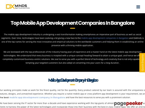 Top Mobile App Development Company in Bangalore