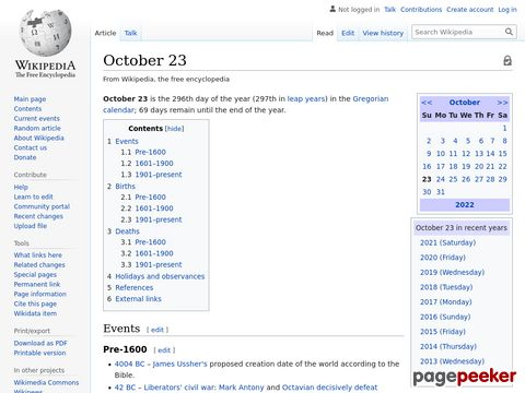OCTOBER 23 - HISTORICAL EVENTS - ON THIS DAY #EDUCRATSWEB