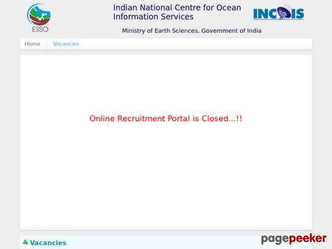 Scientist Vacancy Recruitment in Ministry of Earth Sciences 2021