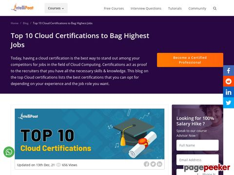 Top 10 Cloud Certifications to Acquire for High Paying Jobs  DIGITWITT.IN | TOP 2 BEST DIGITAL MARKETING COMPANIES IN BANGALORE INDIA - 2020 NEWS   #EDUCRATSWEB