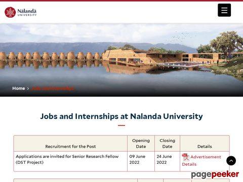 Faculty and Non-Teaching Job Vacancy at Nalanda University 2020 �� Details and Application Format? What is the last date? Selection Criteria? Application Fee? How to Apply? educratsweb.com