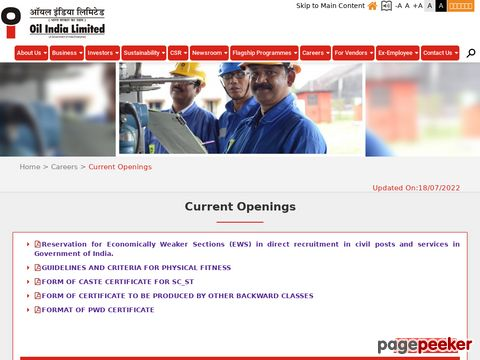 Oil India Limited invites online applications in the prescribed format from eligible Indian Nationals for Recruitment and filling up the various 54 latest vacancy job posts of Grade-A, Grade-B, and Grade-C Officers in various disciplines. (Advertisement No. EX RECT/2020/01)