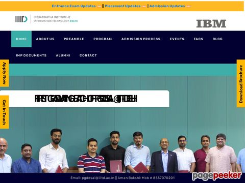 IIIT-Delhi Begins Admission Process for PG Diploma in Data Science and Artificial Intelligence (AI) in association with IBM Last Date to Apply is July 20th, 2020