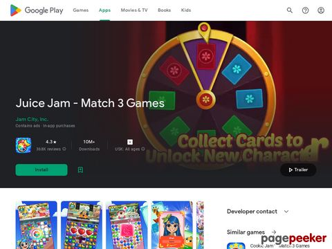 Juice Jam - Puzzle Game & Free Match 3 Games Jam City, Inc.
