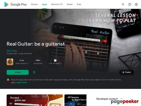 Real Guitar - Guitar Playing Made Easy. Kolb Apps