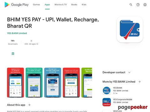 BHIM YES PAY - UPI, Wallet, Recharge, Bharat QR YES BANK Limited