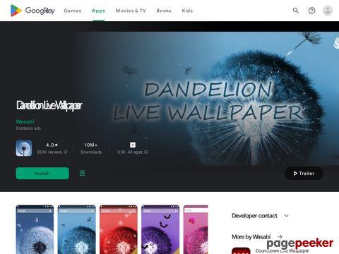 Dandelion Live Wallpaper Wasabi