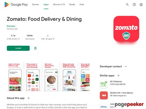 Zomato - Restaurant Finder and Food Delivery App Zomato