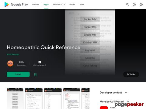 Homeopathic Quick Reference AVS Prasad