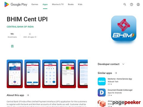 BHIM Cent UPI CENTRAL BANK OF INDIA
