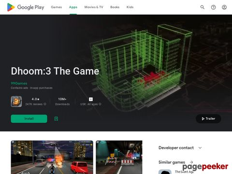 Dhoom:3 The Game 99Games