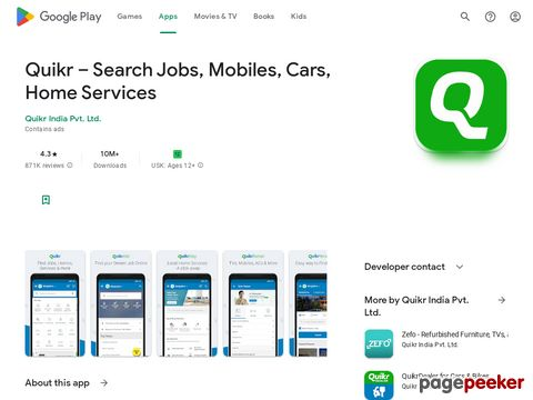 Quikr – Search Jobs, Mobiles, Cars, Home Services Quikr India Pvt. Ltd.