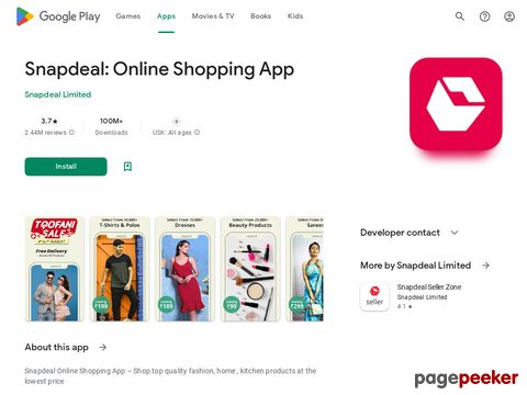 Snapdeal Online Shopping App - Shop Online India Snapdeal Private Limited