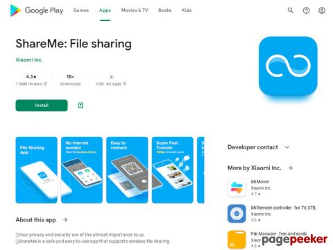 Share Music & Transfer Files - Mi Drop Xiaomi Inc.