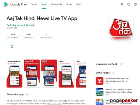 Aaj Tak Live TV News - Latest Hindi India News App TV Today Network Limited