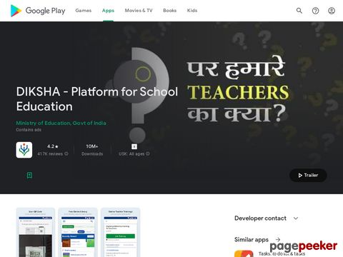 DIKSHA - National Teachers Platform for India