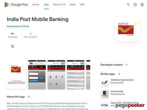 India Post Mobile Banking Department of Posts
