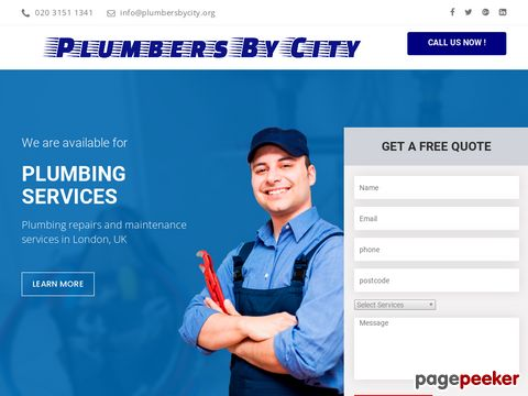 Plumbers London | Plumbing Repairs from £65 | PlumbersByCity