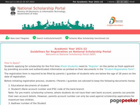 Pre Matric Scholarships Scheme for Minorities 2019-20