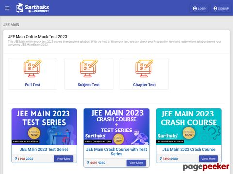 Get free Online mock test for JEE Main Exam