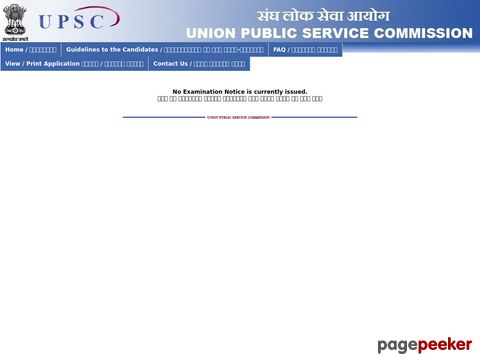 UPSC Civil Services Examination 2019