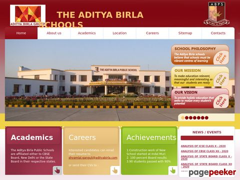 Jobs in The Aditya Birla Group Schools PRFS, Mathura & ABPS, Bhubaneswar