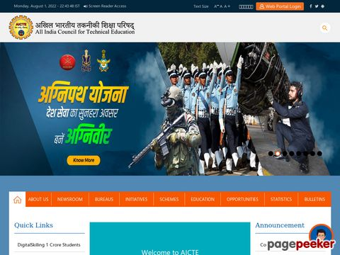 All  India Council for Technical  Education(AICTE) has invited applications from eligible candidates for various posts