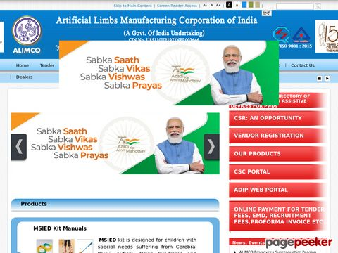 Recruitment for Job Vacancy in Artificial Limbs Manufacturing Corporation of India (ALIMCO) 2020