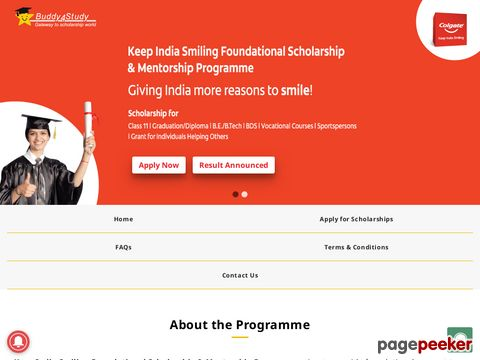 Keep India Smiling Foundational Scholarship Programme