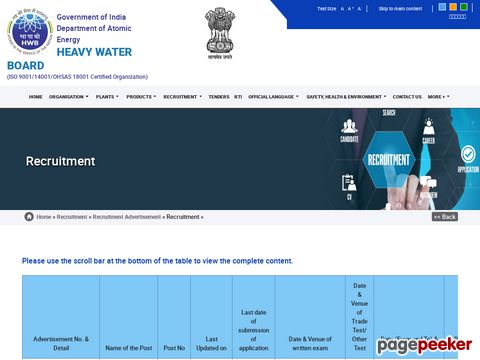 Recruitment of Junior Translation Officer in Heavy Water Board 2021