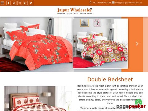 Jaipur Wholesaler Bed sheet Quilts Manufacturer