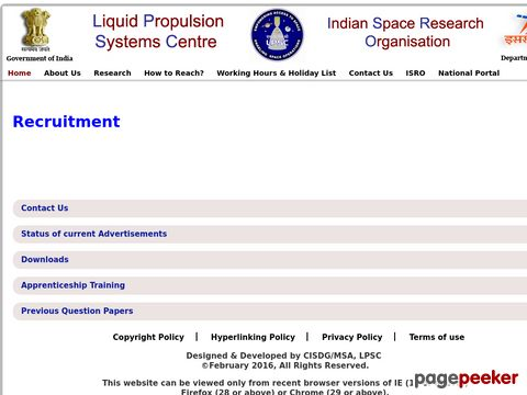 Scientist/Engineer-SC Vacancy Recruitment in ISRO LPSC 2020