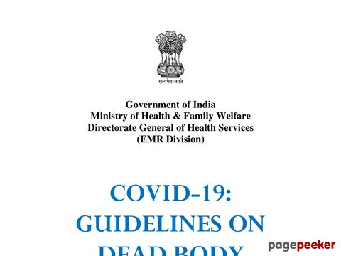 Guidelines on Dead Body Management