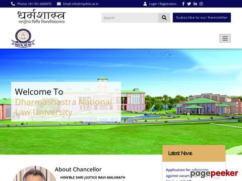 DHARMASHASTRA NATIONAL LAW UNIVERSITY, JABALPUR (M.P.)