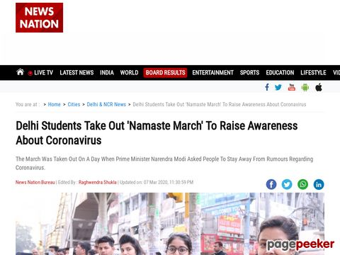 Delhi Students Take Out Namaste March To Raise Awareness About Coronavirus