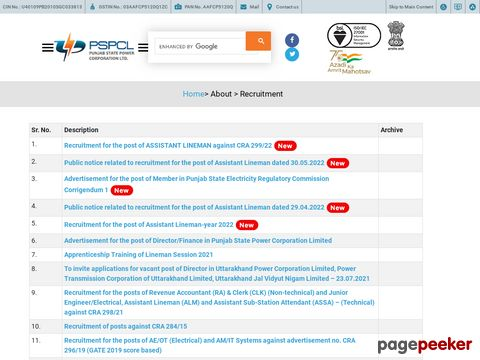 Recruitmentof 3500 Lineman Vacancy in PSPCL