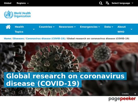 Global research on coronavirus disease (COVID-19)