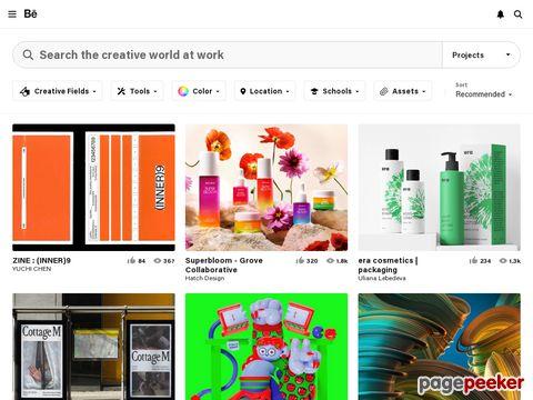 đánh giá trang web Behance.net