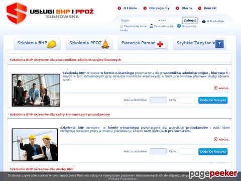 """Konrad Sułkowski - USŁUGI BHP i PPOŻ """"SUŁKOWSKI"""""""